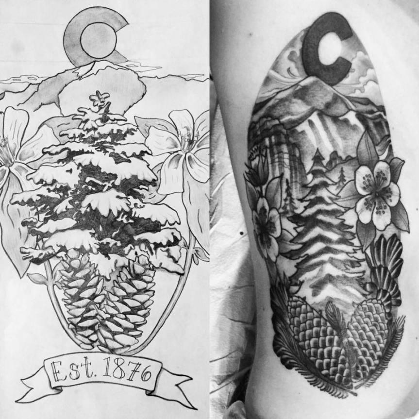 Timothy Pate tattoo